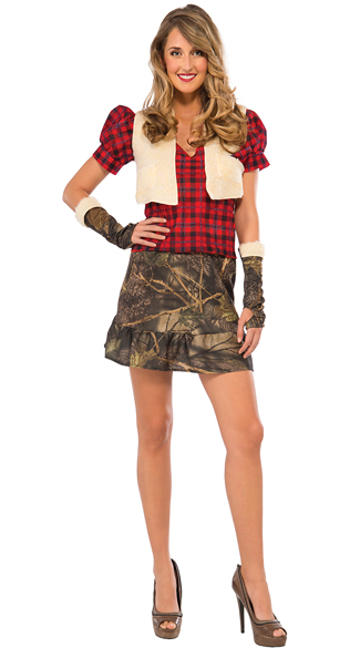 Huntress Costume, Sexy Camo Costume, Women\'s Camo Halloween Costume