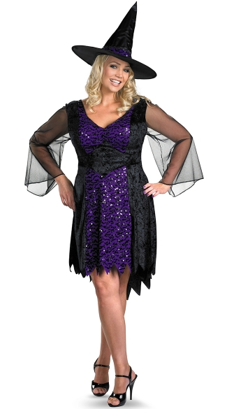 Plus Size Brilliantly Bewitched Costume