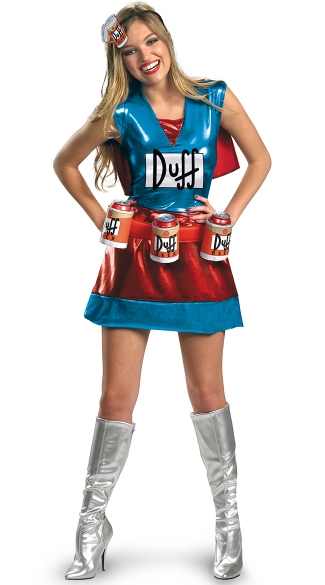 Darling Duffwoman Costume, Sexy Simpsons Costume, The Simpsons Costume