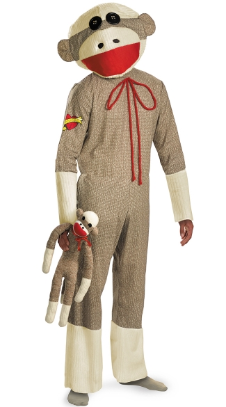 Men\'s Sock Monkey Costume