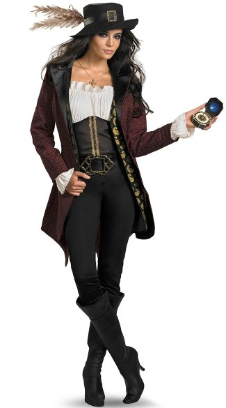 Pirates of the Caribbean Angelica Costume, Deluxe Movie Pirate Costume