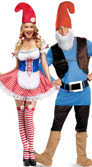 Lawn Gnome Couples Costume, Men\'s Papa Gnome Costume, Mens Gnome Costume, Sexy Gnome Costume, Womens Gnome Costume