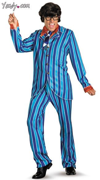 Deluxe Austin Powers Carnaby Suit Costume, Mens Austin Powers Costume, Austin Powers Movie Costume