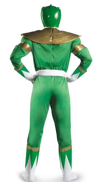 Men\'s Green Power Ranger Costume