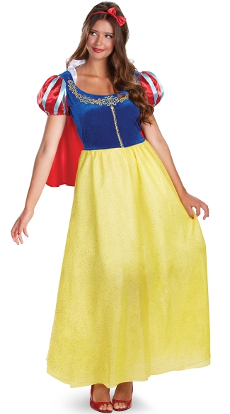 Officially Licensed Snow White Costume, Long Snow White Costume