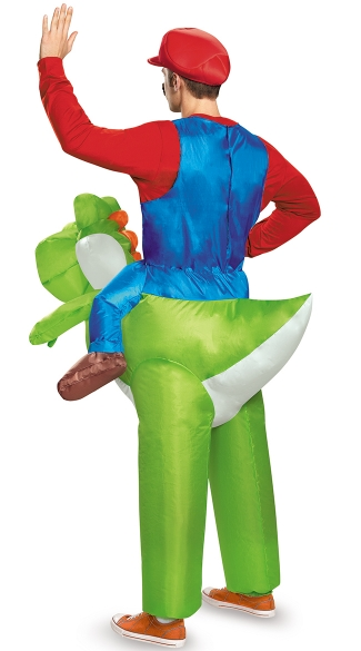 Men\'s Mario Riding Yoshi Costume