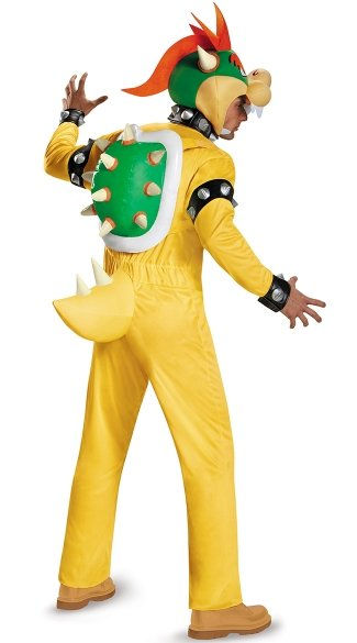 Men\'s Deluxe Bowser Costume