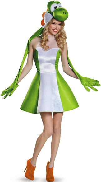womens yoshi costume mario brothers halloween costumes yoshi halloween costume - Green Halloween Dress