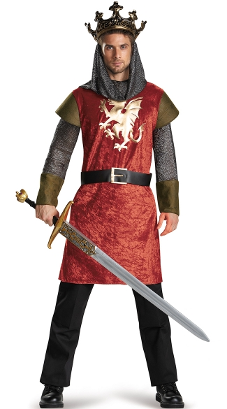 Men\'s Classic King Costume, Adult King Costume, King Halloween Costume