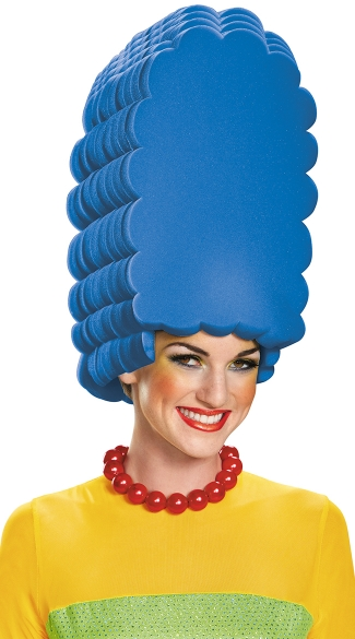 Marge Simpson Foam Wig, Marge Simpson Costume, Marge Simpson Wig