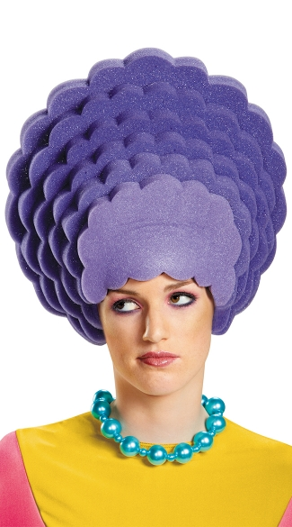 Patty Bouvier Foam Wig, Simpsons Costume, Simpsons Wig