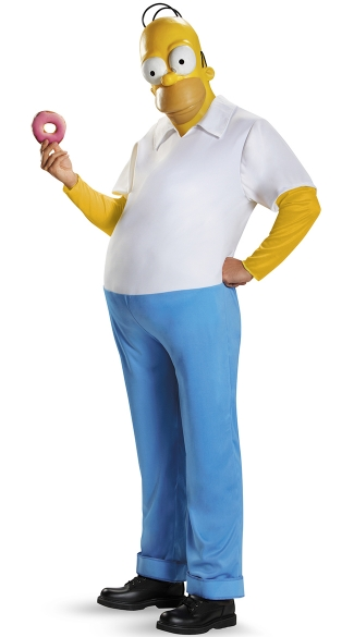 Deluxe Homer Simpson Costume, Homer Simpson Deluxe Adult Costume, Simpson\'s Halloween Costume, Homer Simpson Halloween Costume