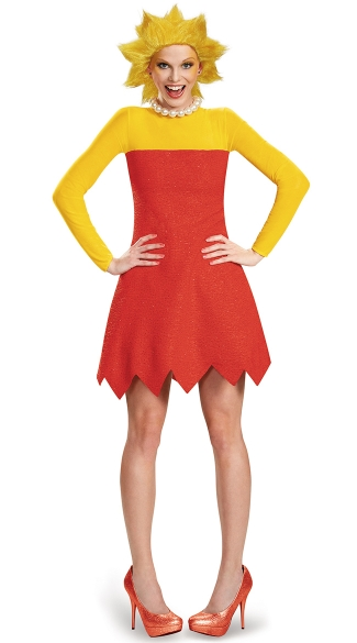 Deluxe Lisa Simpson Costume, Lisa Deluxe Adult, Lisa Simpson Halloween Costume, Lisa Simpson Wig