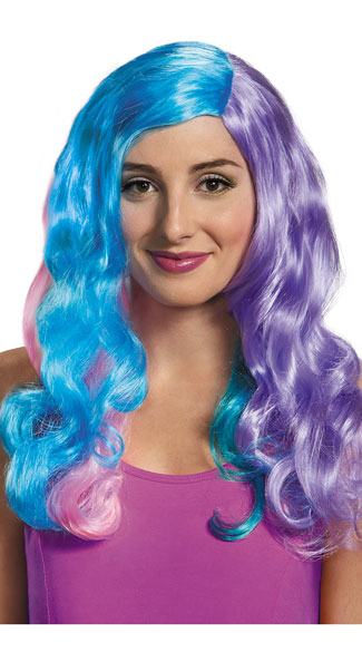 Princess Celestia Wig, My Little Pony Wig, Curly Pastel Wig