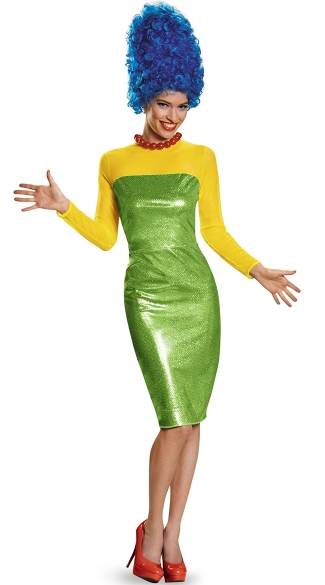 Adult Marge Simpson Costume, Marge Simpson Halloween Costume