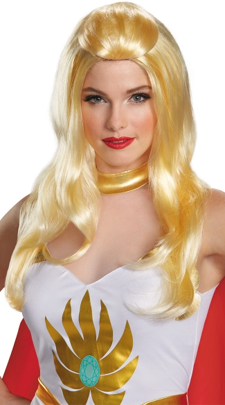She-Ra Wig, Long Blonde Wig, Cartoon Wig