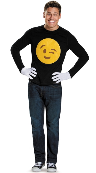 Wink Emoji Costume Kit
