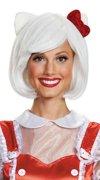 Hello Kitty Wig, Hello Kitty Halloween Costume, Adult Hello Kitty