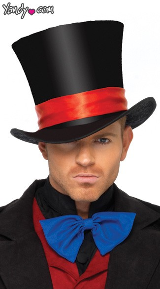 Deluxe Men\'s Velvet Top Hat