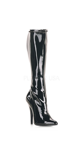 "5"" Heel Patent Stretch Knee High Boot"