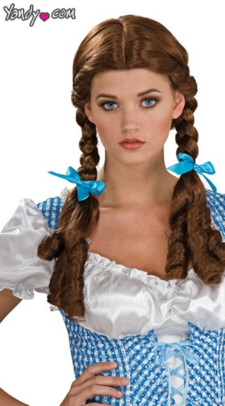Dorothy Wizard of Oz Wig, Dorothy Wig, Braided Wig