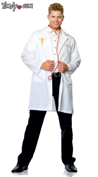 Two Piece Dr. Phil Good Costume, Men\'s Doctor Costume, Flirty Doctor Costume