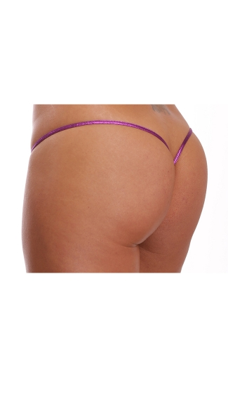 Low Cut Metallic G-String