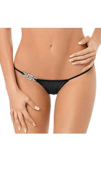 Jeweled Side Thong, Jewel Strap Thong