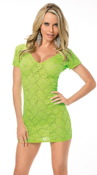 Lime Green Lace Dress