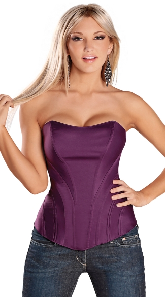 Sweetheart Corset with Side Boning, Strapless Corset, Waist Cincher