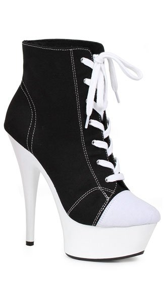 "6"" Sneaker Booties, high heel sneakers - Yandy.com"