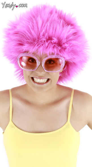 Fuzzy Pink Wig, Pink Clown Wig, Pink Troll Wig, Bright Pink Wigs