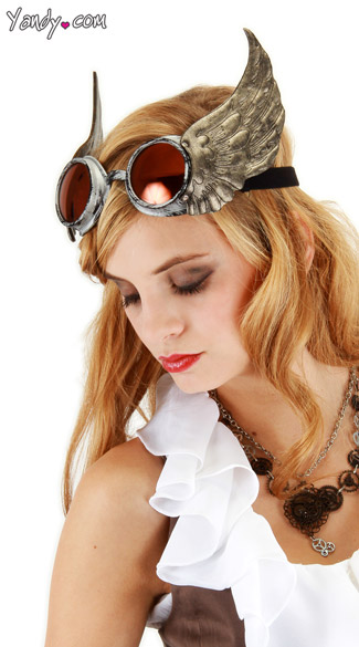 Winged Goggles, Steampunk Goggles, Steampunk Glasses
