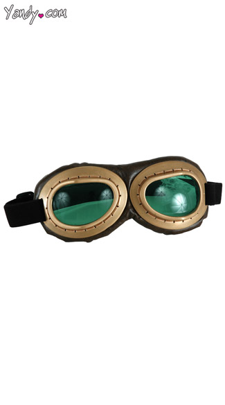 Green Aviator Goggles