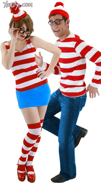 Find Us Couples Costume, Wheres Waldo Couples Costume, Wheres Wanda Couples Costume, Wheres Waldo His and Hers Couples Costume