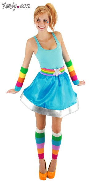 Rainbow Brite Arm and Leg Wamers, Rainbow Legwarmers, Neon Leg Warmers