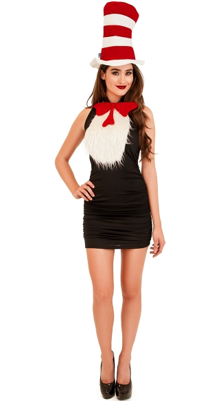 Cat in the hat tuxedo kit cat in the hat costume hat and - Disfraces rapidos y sencillos para adultos ...