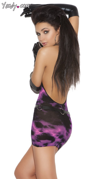 Black and Pink Tie Dye Chemise
