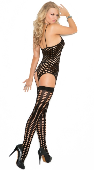 Three-Piece Pothole Bodystocking