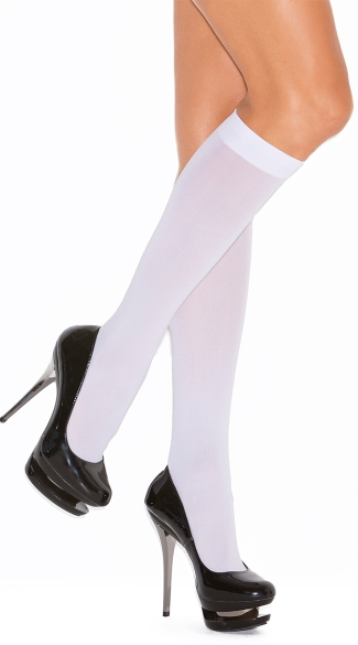 Plus Size Opaque Knee Highs, Plus Size Opaque Stockings, Plus Size Knee High Leggings