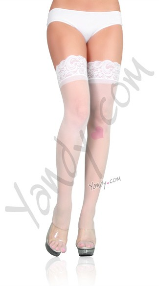 Lace Top Thigh High with Applique