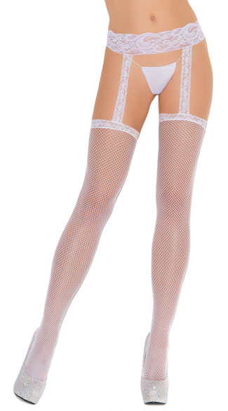 Thigh High with Lace Garterbelt