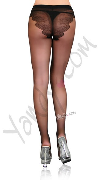 French Cut Support Sexy Pantyhose