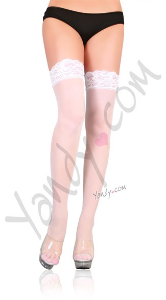 Plus Size Lace Top Stockings