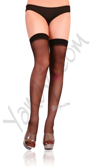 Plus Size Sheer Thigh High Stockings, Plus Size Thigh Highs, Plus Size Thigh High Sheer Stockings