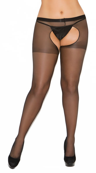 Plus Size Sheer Crotchless Pantyhose, Plus Size Sheer Open Crotch Pantyhose, Plus Size Crotchless Sheer Pantyhose, Plus Size Open Crotch Sheer Pantyhose