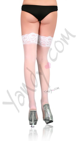Plus Size Stay Up Thigh High Stockings