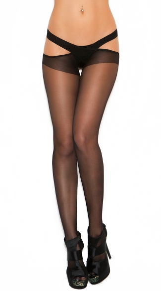 Sheer Criss Cross Suspender Pantyhose, Criss Cross Pantyhose, Suspender Pantyhose