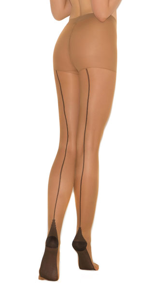 Cuban Heel Backseam Pantyhose, Cuban Heel Pantyhose, Cuban Heel Back Seam Pantyhose