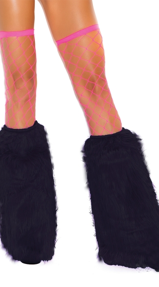 knee high fur boot covers boot covers neon fur leg